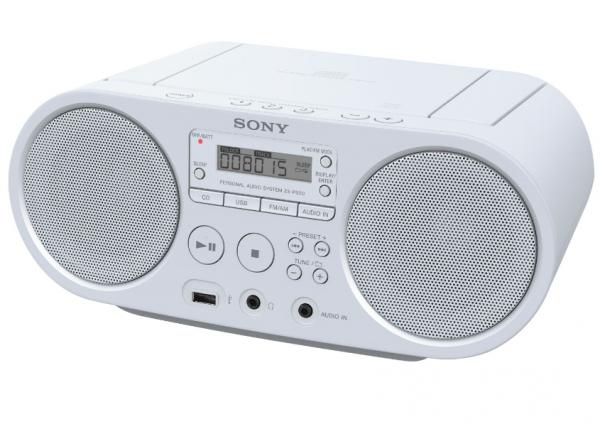 Sony ZSPS50 weiss Radio CD-Player