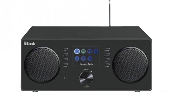 Block CR20 schwarz Design-Radio DAB+ BT WLAN