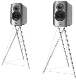 Q Acoustics Concept 300 silber ebenholz Paarpreis mit Ständer